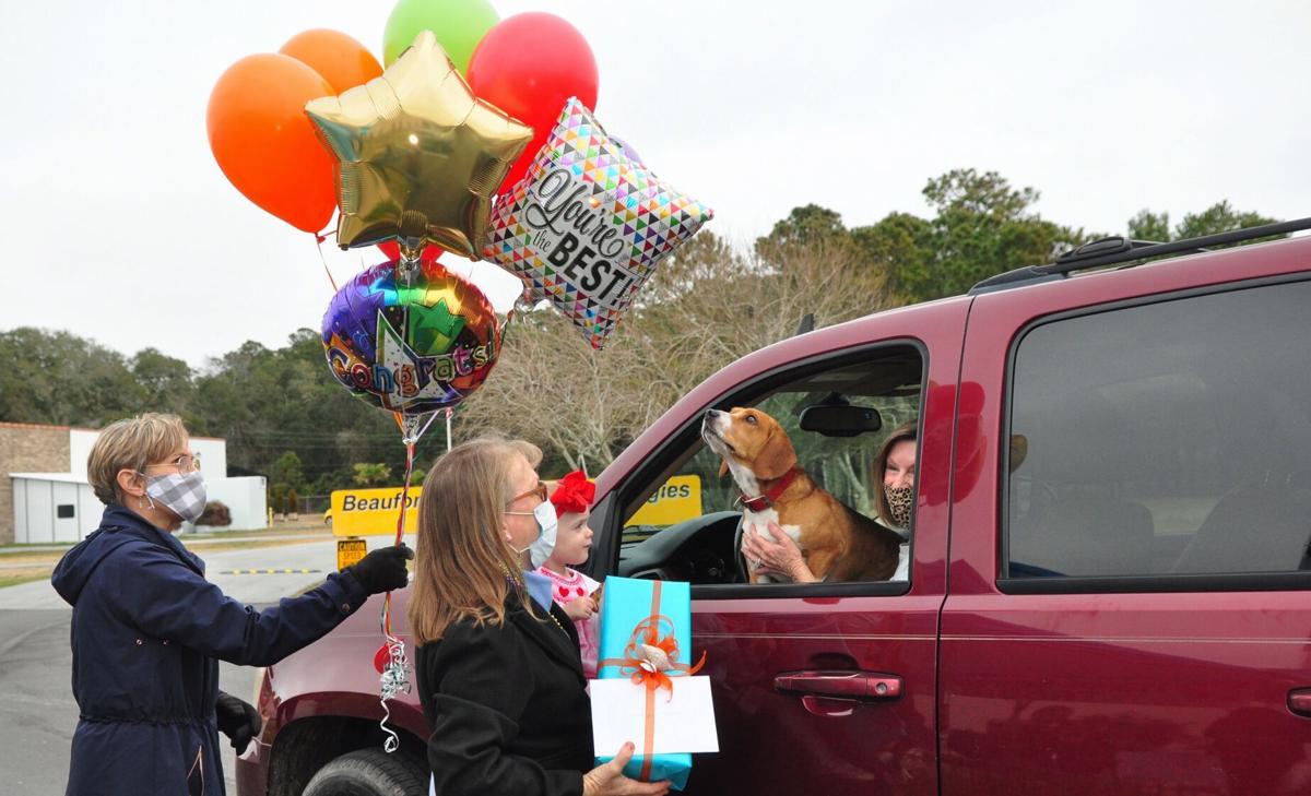 Community comes out to honor Nance with festive retirement parade