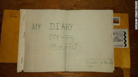 Austin Hutton hadn't seen his diary since 1988.