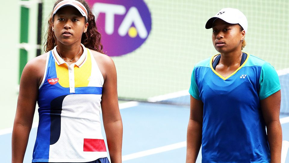 Naomi and Mari Osaka, pictured here at the Toray Pan Pacific Open in 2017.