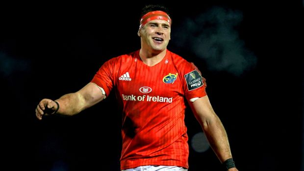 CJ Stander in action for Munster against Connacht in January. Photograph: Bryan Keane/Inpho