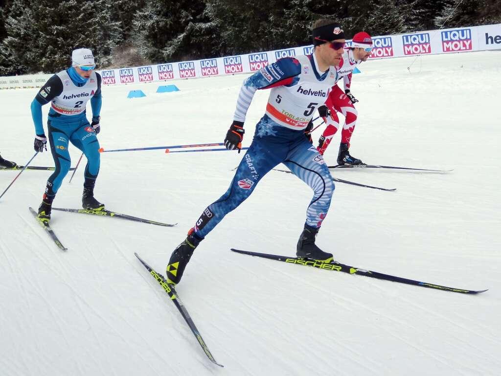 Simi Hamilton competes in a cross-country ski race. Courtesy photo.