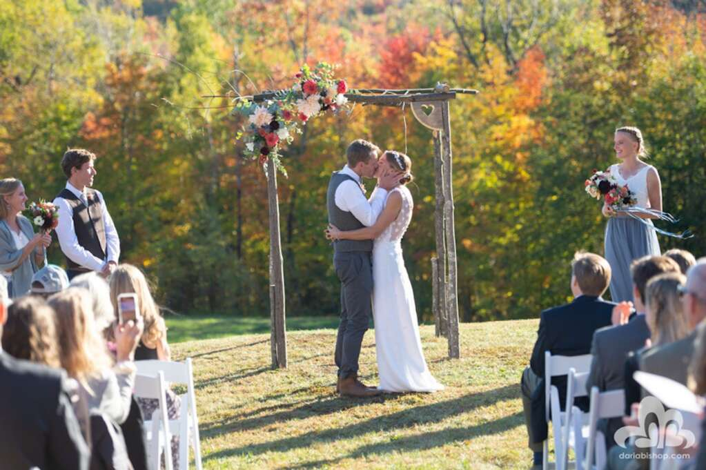 Simi Hamilton and Sophie Caldwell married in the fall of 2019 back in Vermont. Courtesy photo.