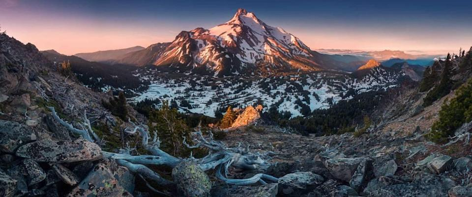 At 10,492 feet high, Mt Jefferson is Oregon's second tallest mountain.