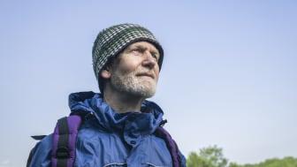 A man enjoying a hike