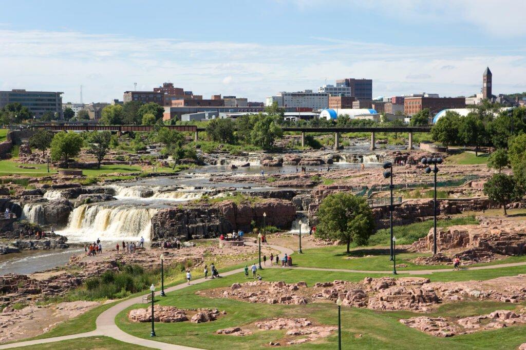Sioux Falls in South Dakota.