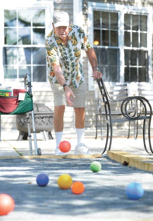 Bocci is a popular pastime at Atria Aquidneck Place in Portsmouth.